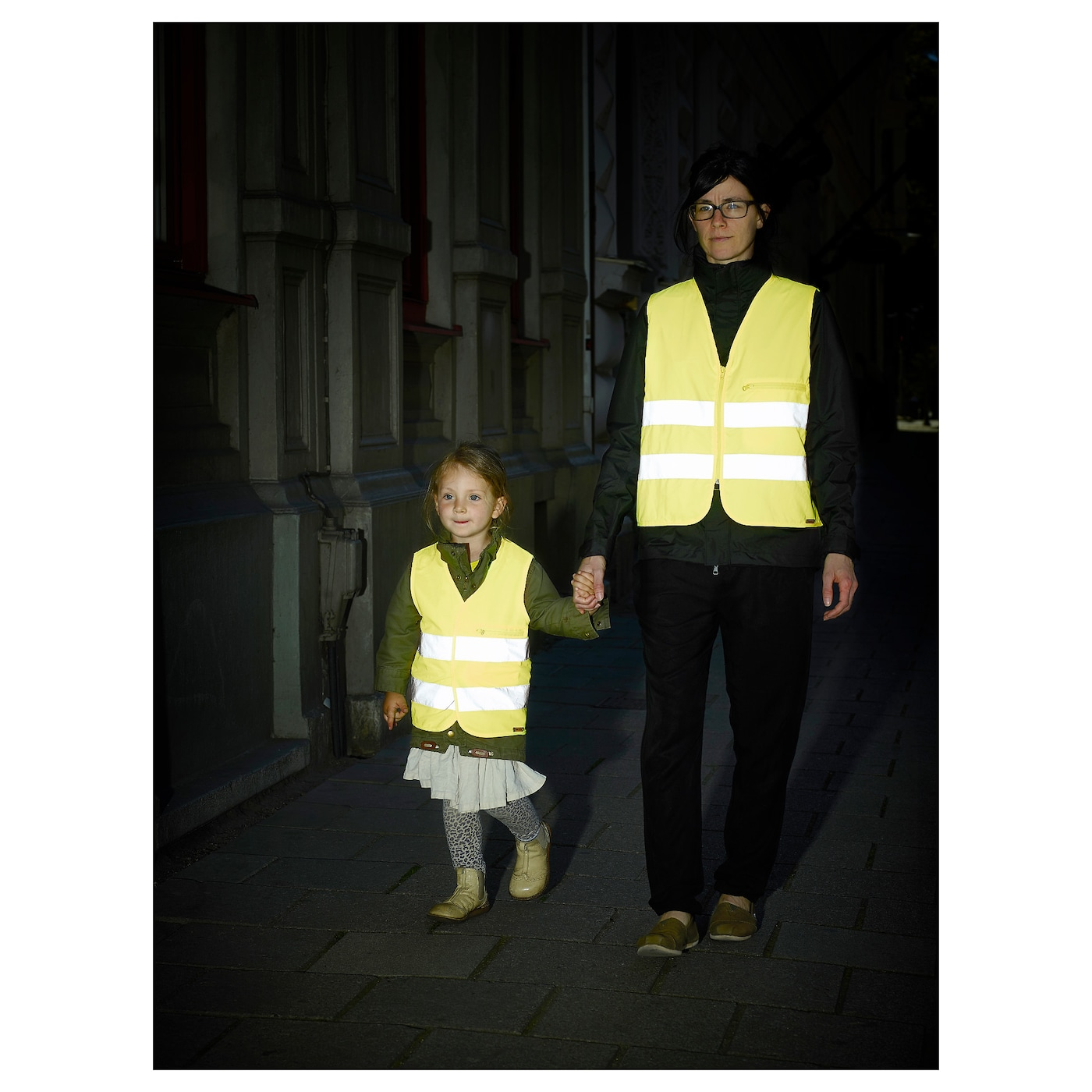 IKEA BESKYDDA reflective vest Folds small enough to fit in your child's coat pocket or school bag.