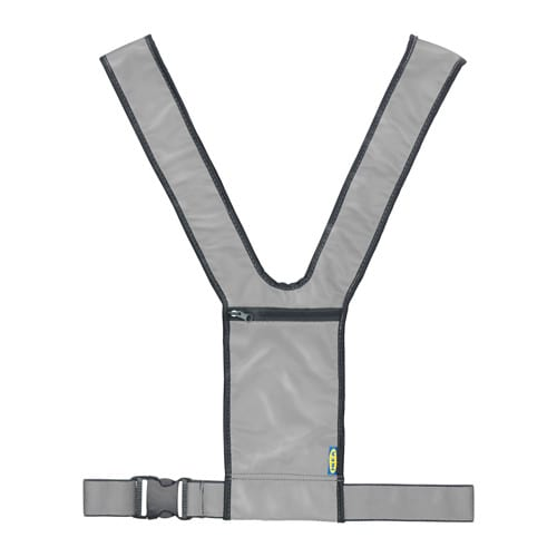 IKEA BESKYDDA visibility harness The waist strap is adjustable for a firm and comfortable fit.