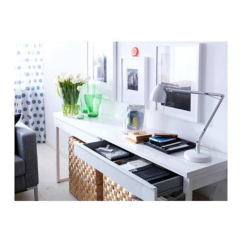 Ikea BestÅ Burs Desk Can Be Placed In The Middle Of A Room Because Back