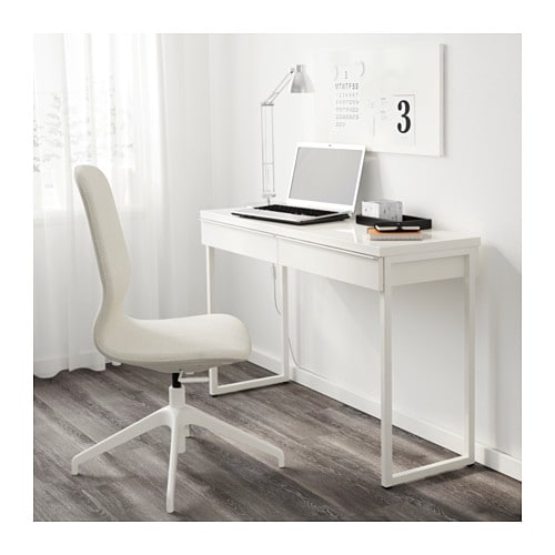 best burs desk high gloss white 120x40 cm ikea. Black Bedroom Furniture Sets. Home Design Ideas