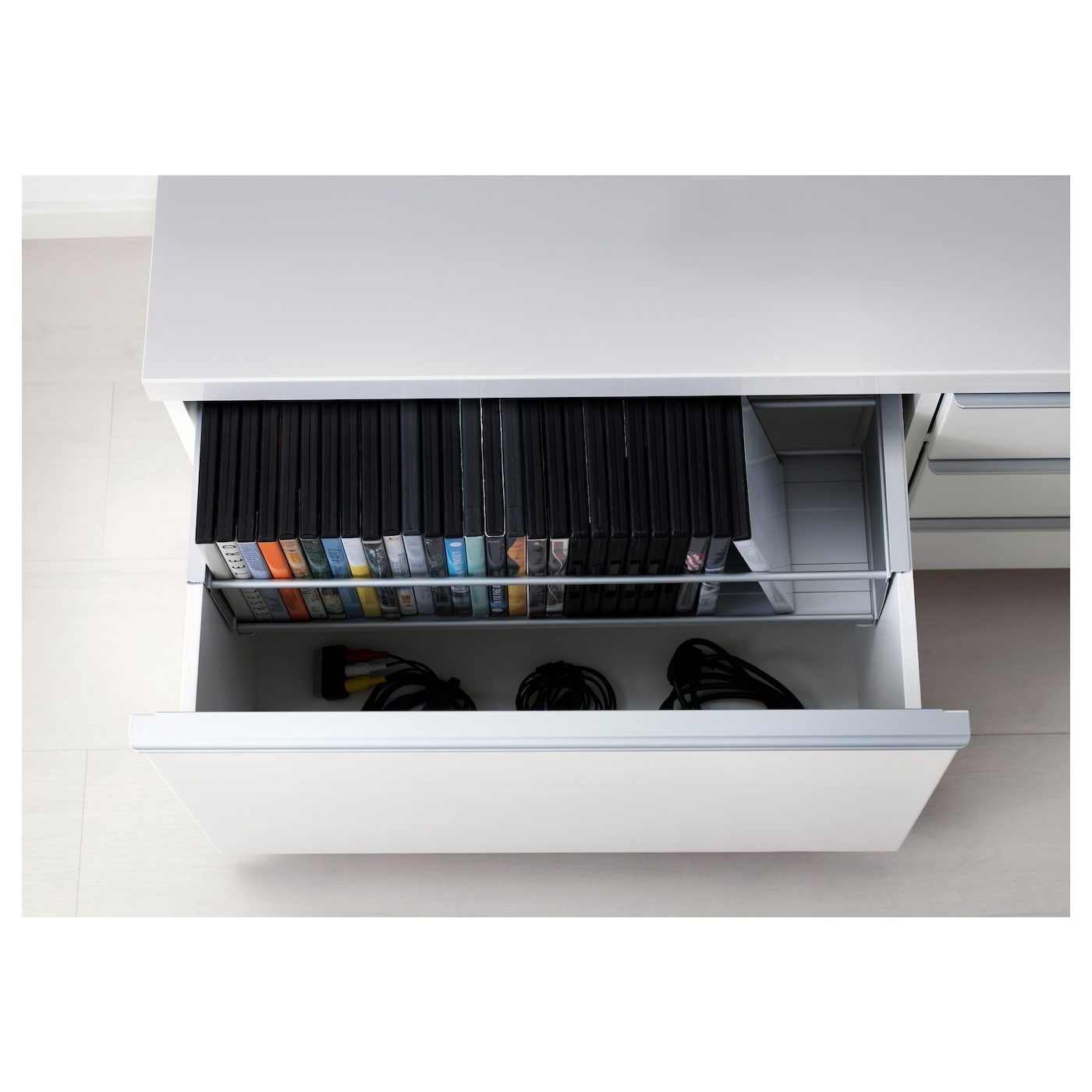 Best Burs Tv Bench High Gloss White 180×41 Cm Ikea # Meuble Hifi Ikea