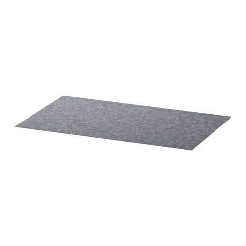 IKEA BESTÅ drawer mat Soft felt protects your things and keeps them neatly in place.