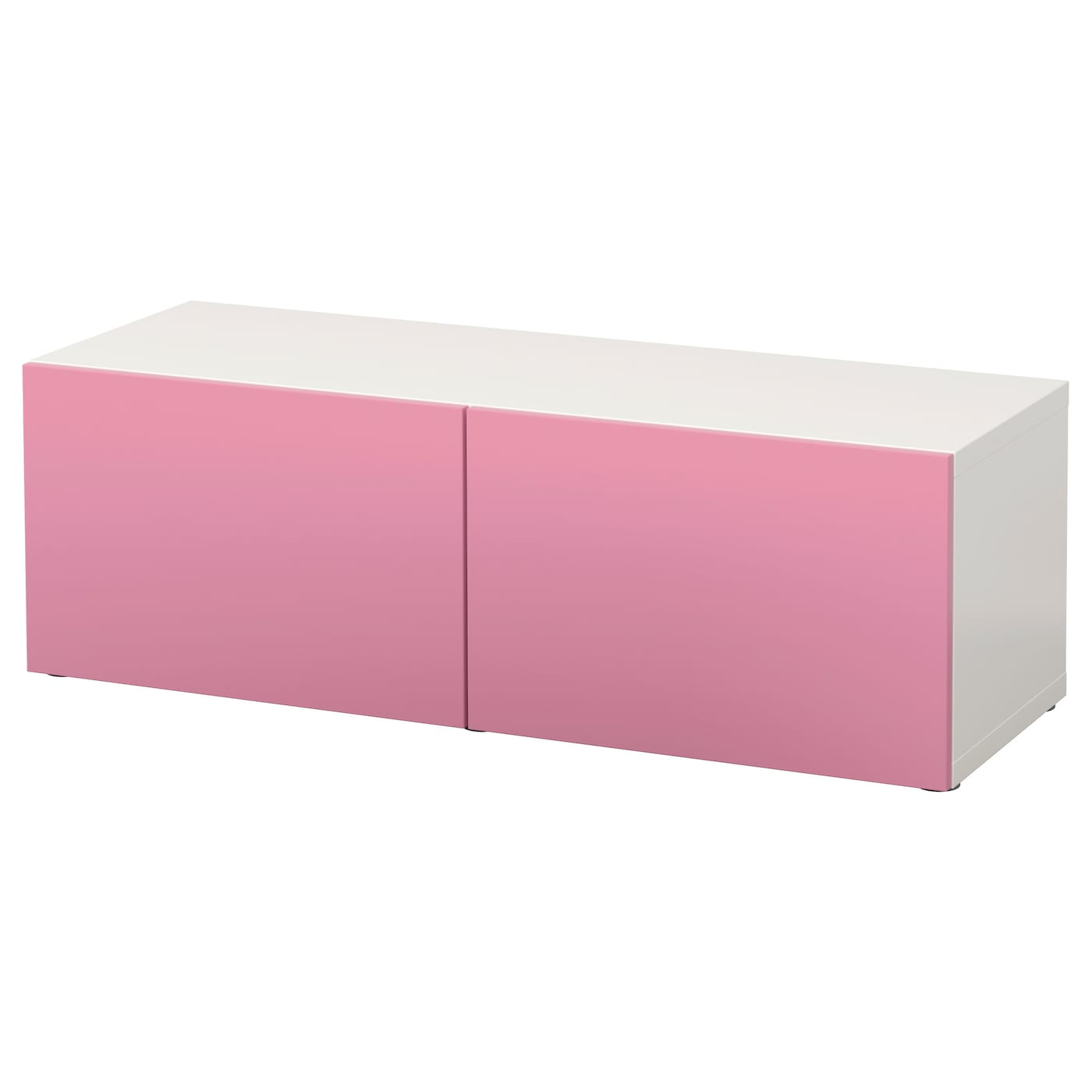 best shelf unit with doors white lappviken pink 120x40x38. Black Bedroom Furniture Sets. Home Design Ideas