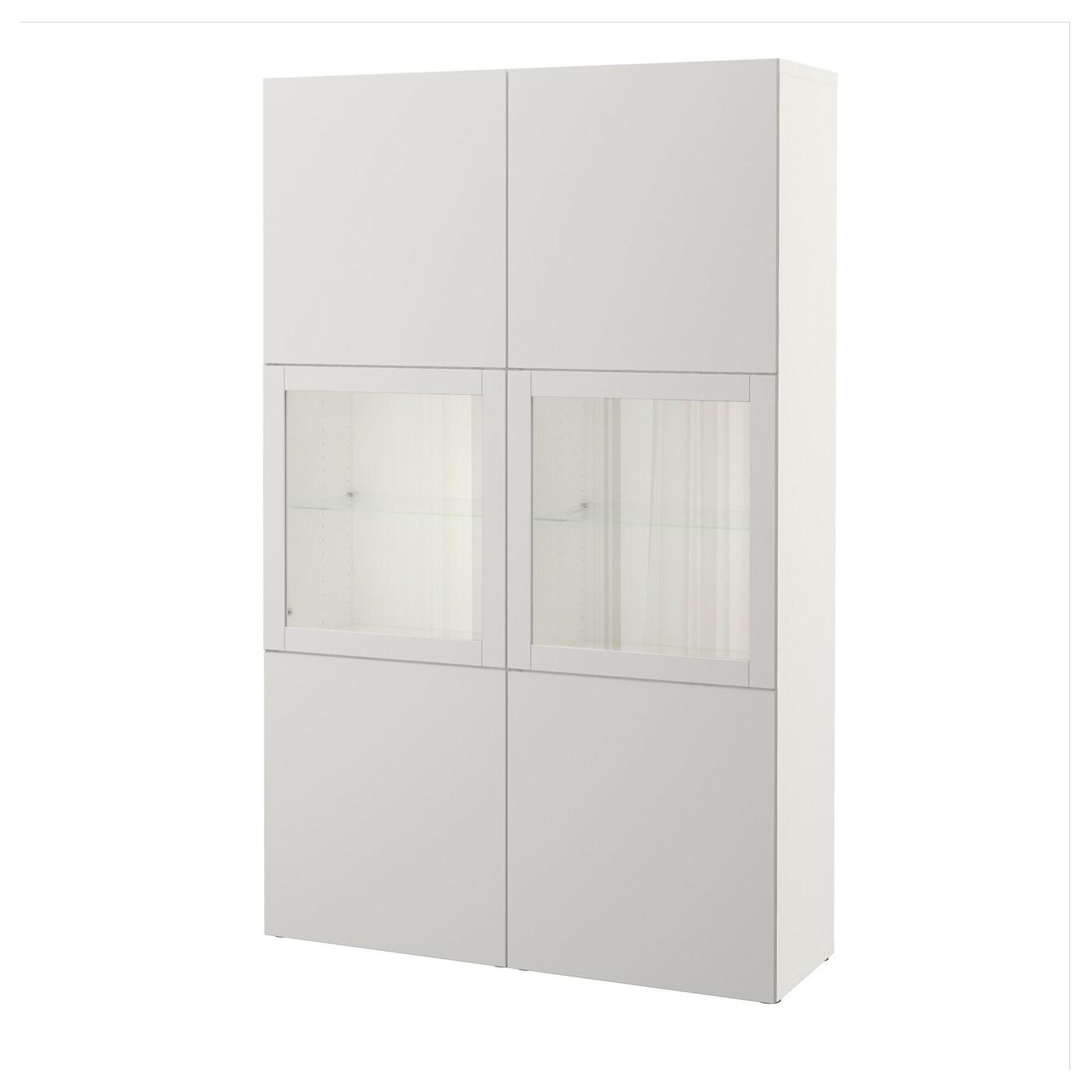best storage combination w glass doors white lappviken. Black Bedroom Furniture Sets. Home Design Ideas
