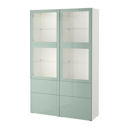 Best Storage Combination W Glass Doors White Selsvikenhigh Gloss