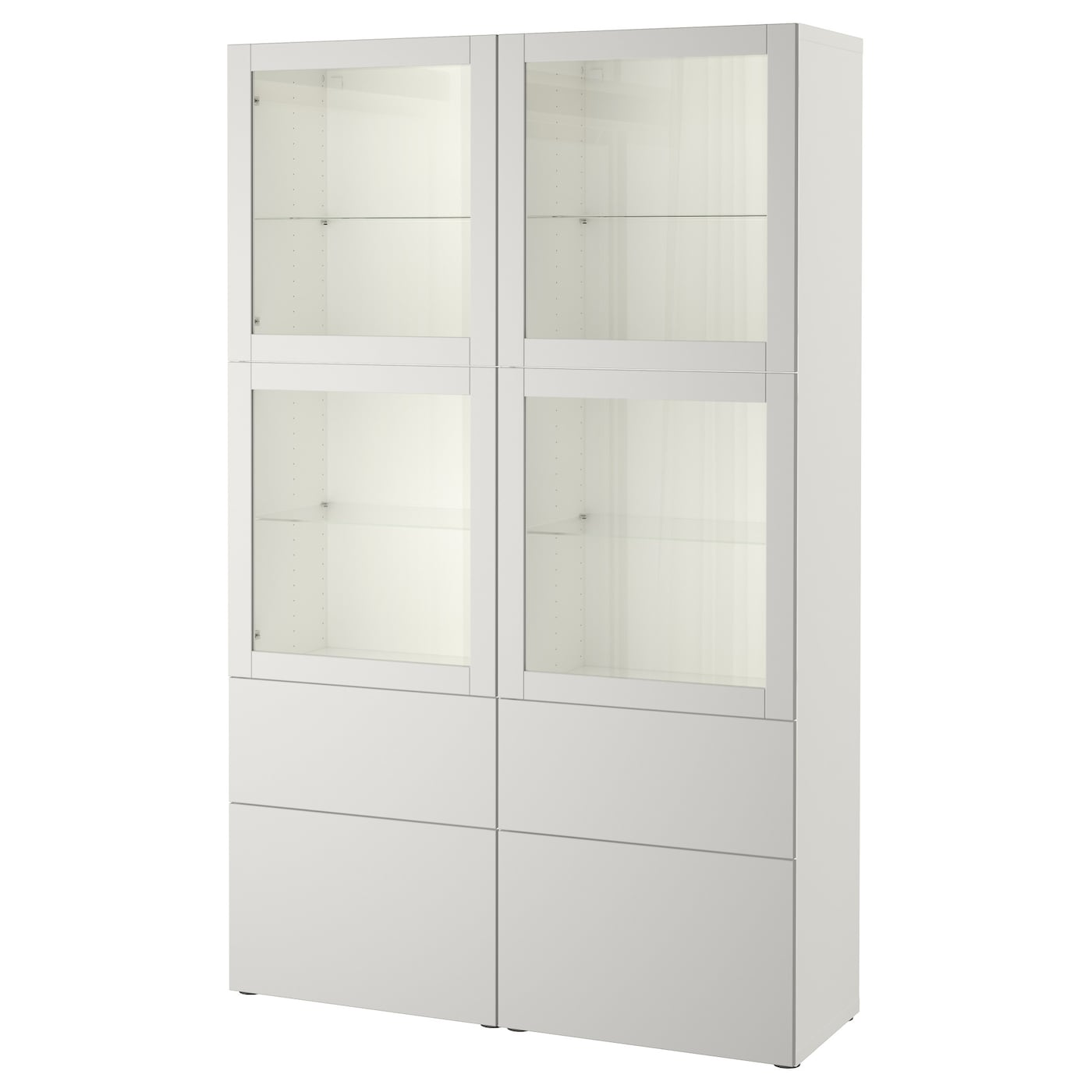 best storage combination w glass doors white sindvik