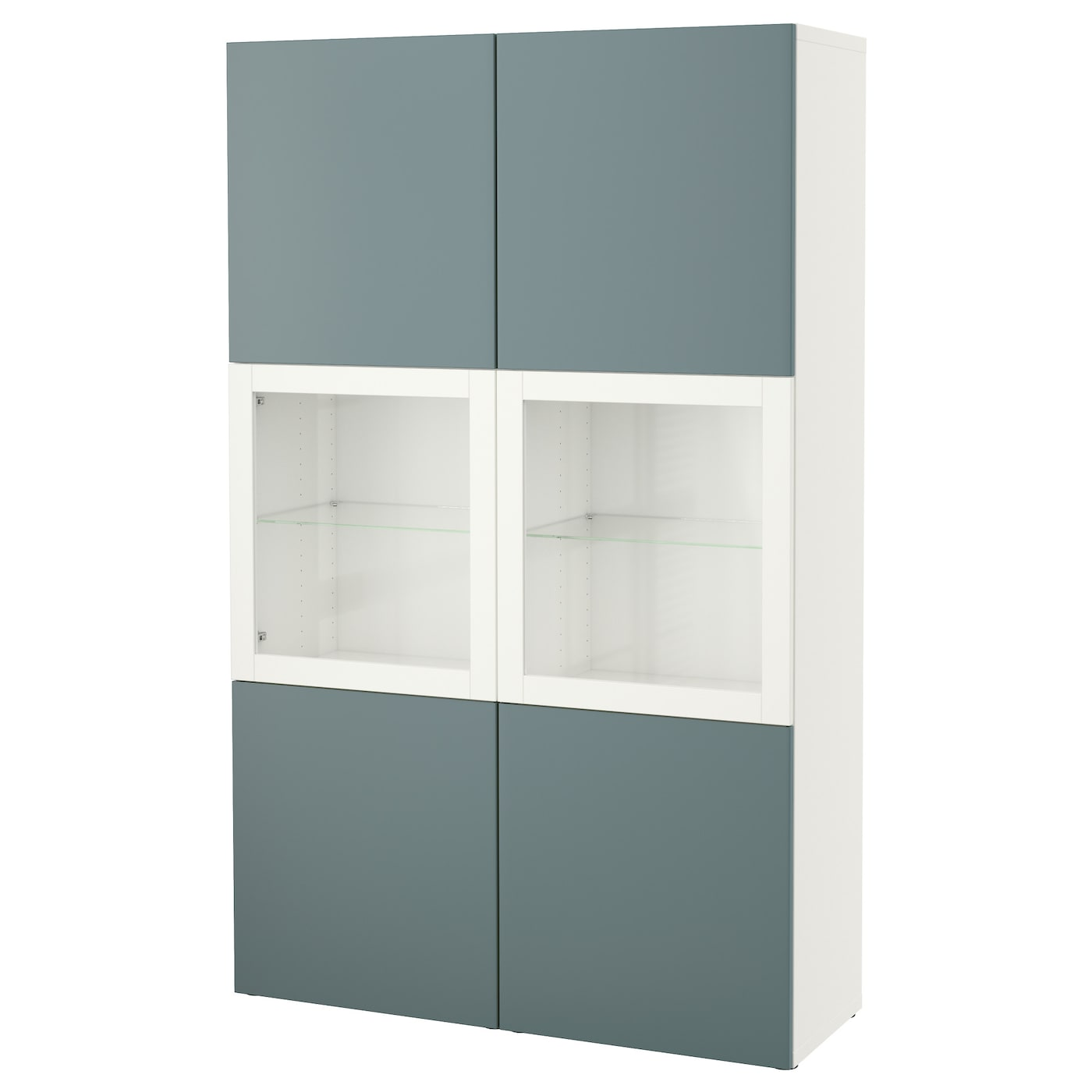 best storage combination w glass doors white valviken