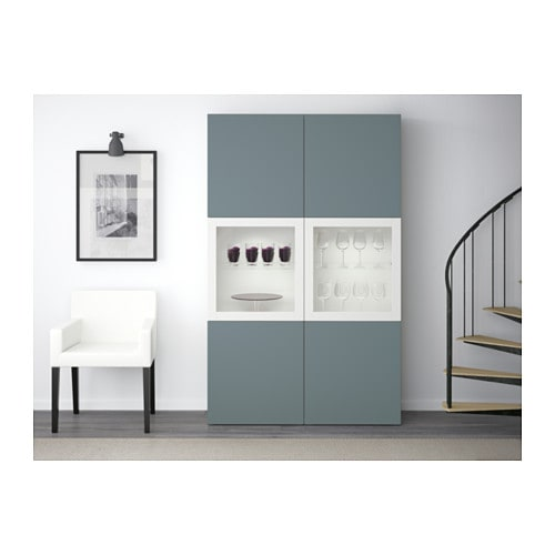 Best 197 Storage Combination W Glass Doors White Valviken