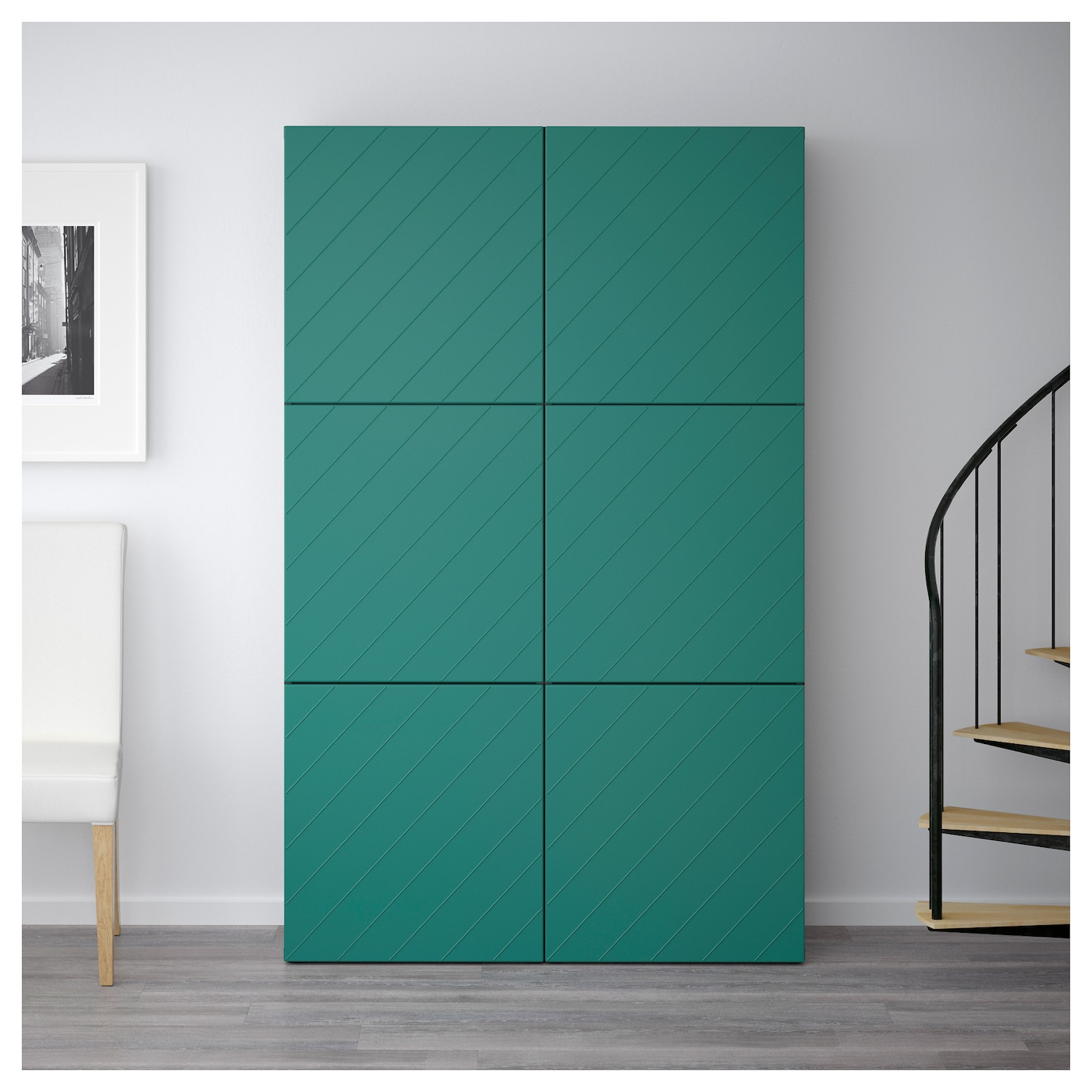 IKEA BESTÅ storage combination with doors
