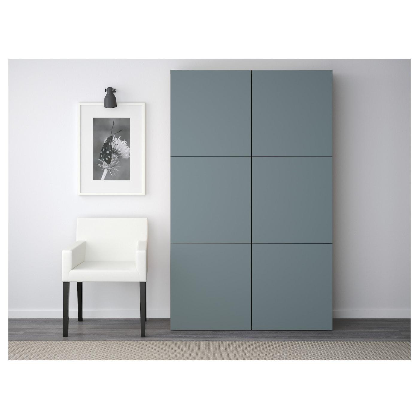 best storage combination with doors oak effect valviken grey turquoise 120x40x192 cm ikea. Black Bedroom Furniture Sets. Home Design Ideas