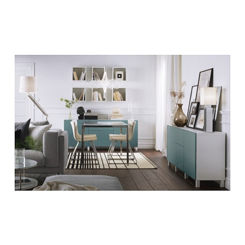 Best storage combination with drawers white valviken grey turquoise 180x40x7 - Ikea rangement mural ...