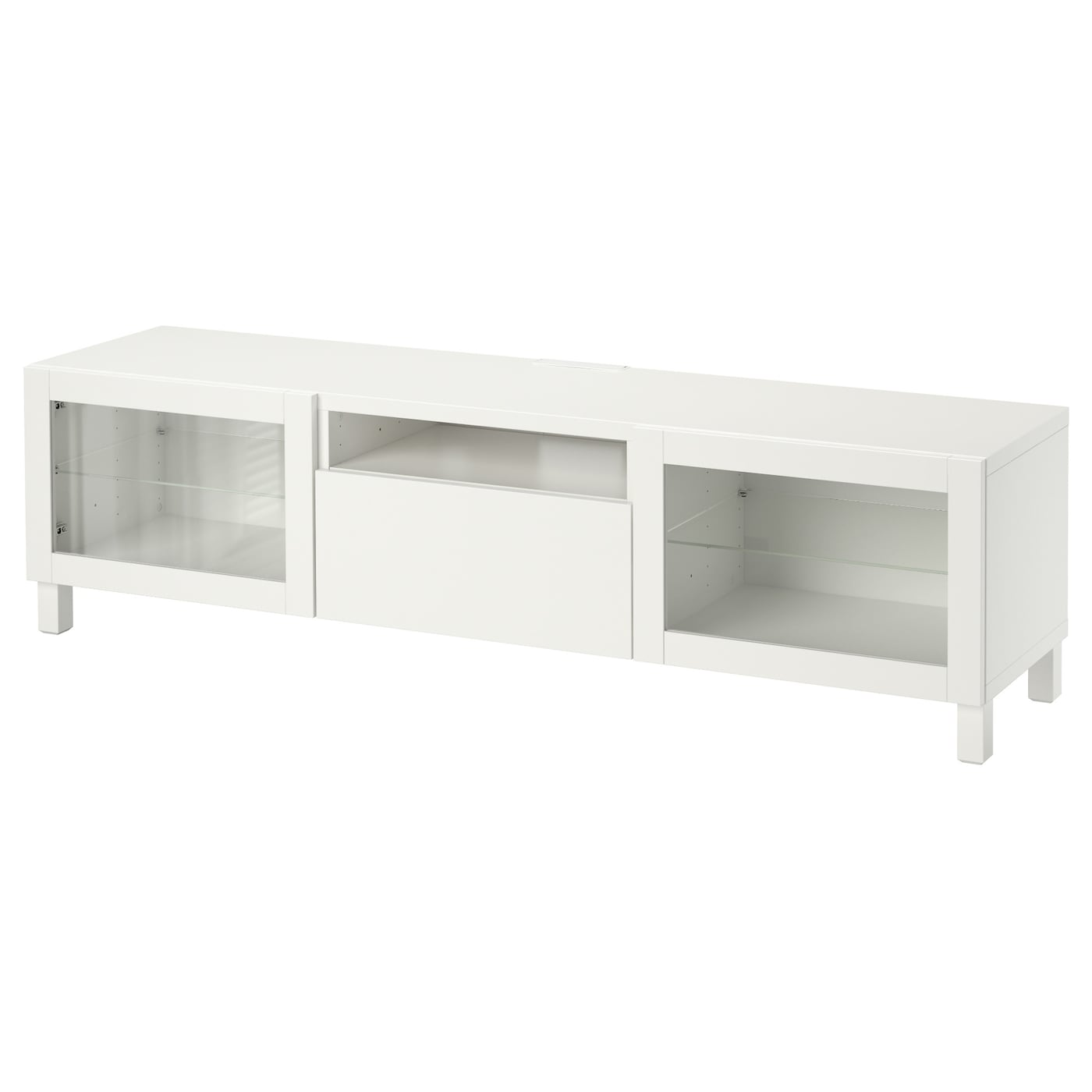 Best Tv Bench Lappviken Sindvik White Clear Glass 180x40x48 Cm Ikea # Meuble Tv Ferme Ikea