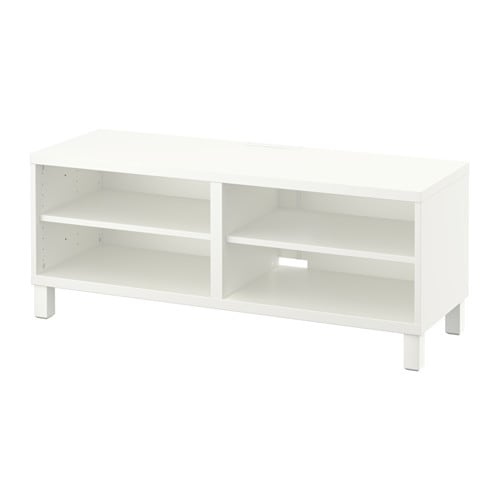 Ikea BestÅ Tv Bench The Cable Outlet At Back Makes It Easy To Gather And