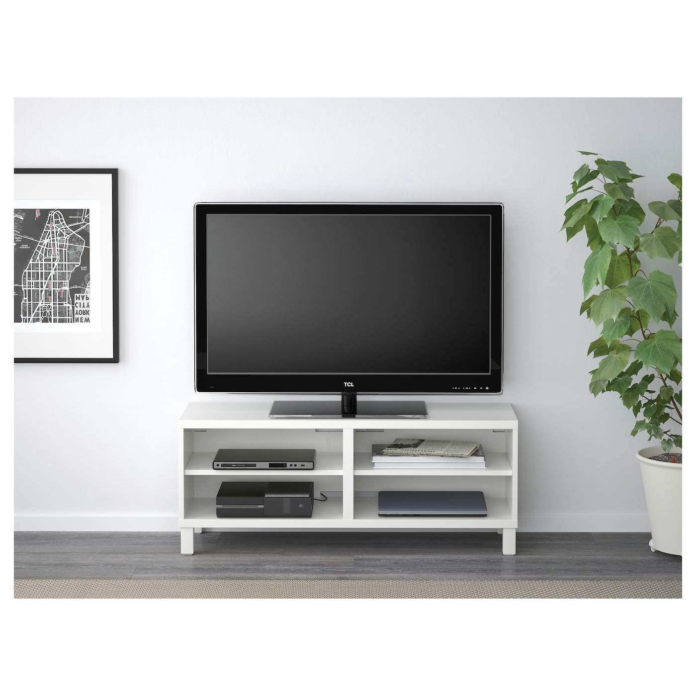 best tv bench white 120 x 40 x 48 cm ikea. Black Bedroom Furniture Sets. Home Design Ideas