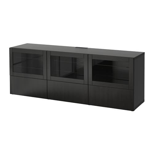 Best Tv Bench With Doors And Drawers Lappvikensindvik Black Brown
