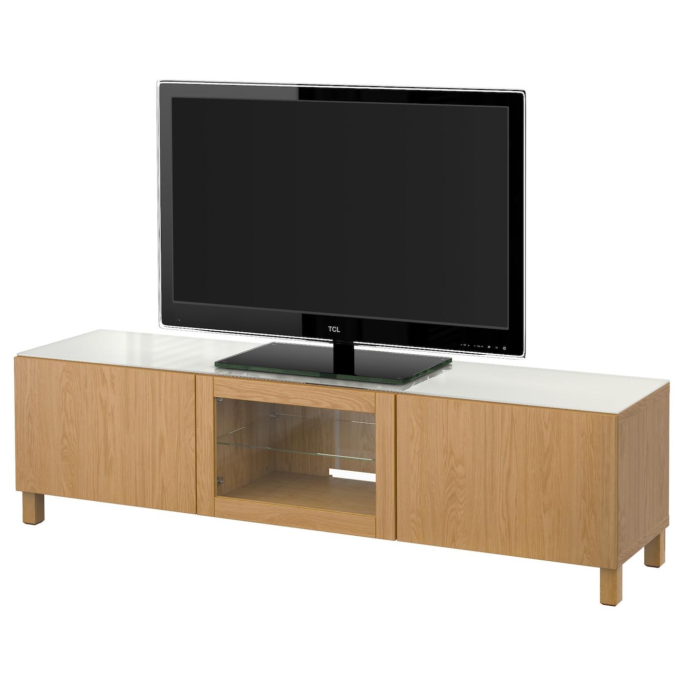 Best Tv Bench With Doors Lappviken Oak Effect 180x40x48 Cm Ikea