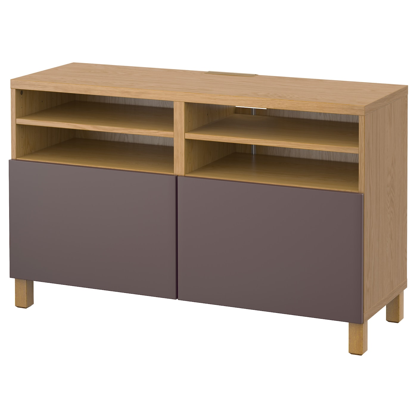 Best tv bench with doors oak effect valviken dark brown Storage bench ikea