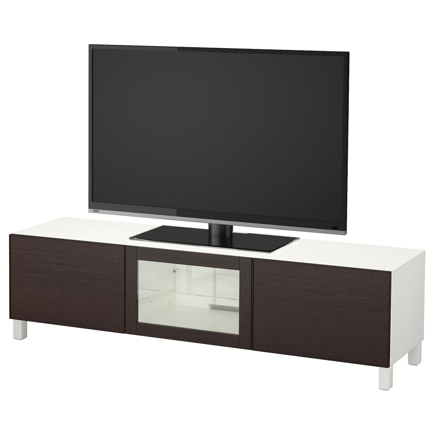 IKEA BESTÅ TV bench with drawers and door