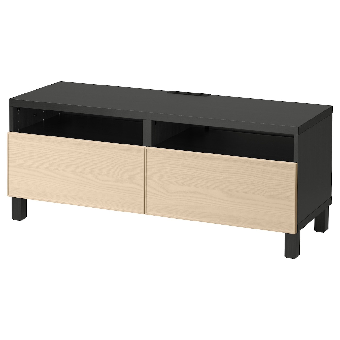 Best Tv Bench With Drawers Black Brown Inviken Ash Veneer 120x40x48 Cm Ikea