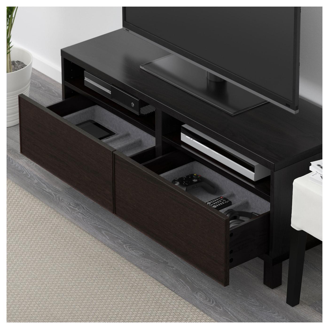 Best Tv Bench With Drawers Black Brown Inviken Black Brown 120x40x48 Cm Ikea