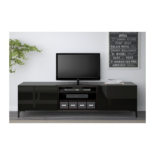 Black High Gloss Tv Bench