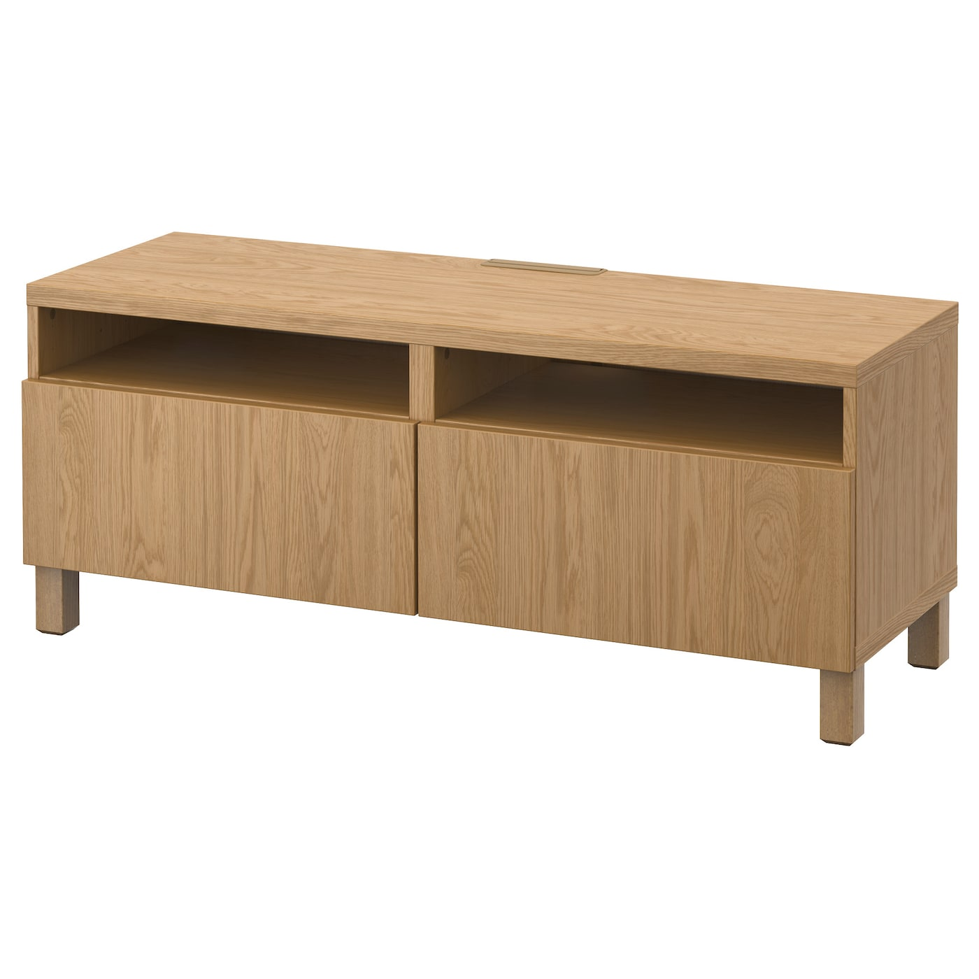 Best tv bench with drawers lappviken oak effect 120x40x48 Oak bench