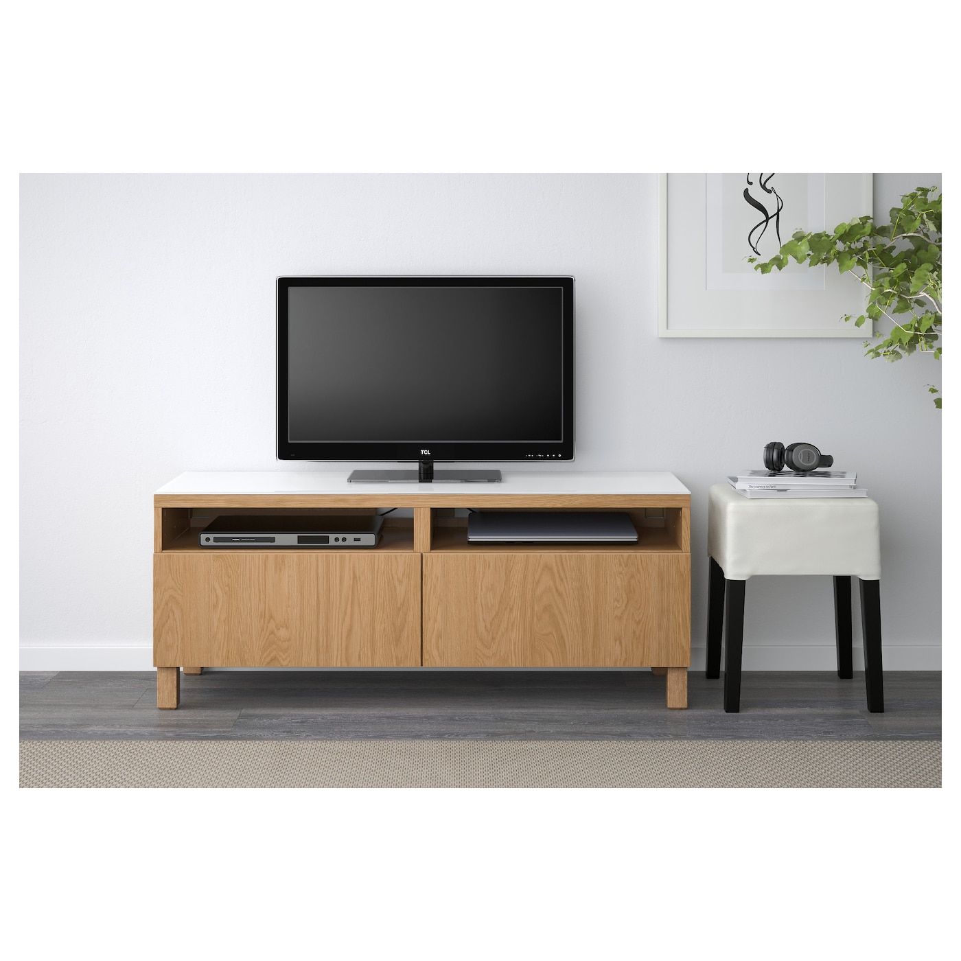 IKEA BESTÅ TV bench with drawers
