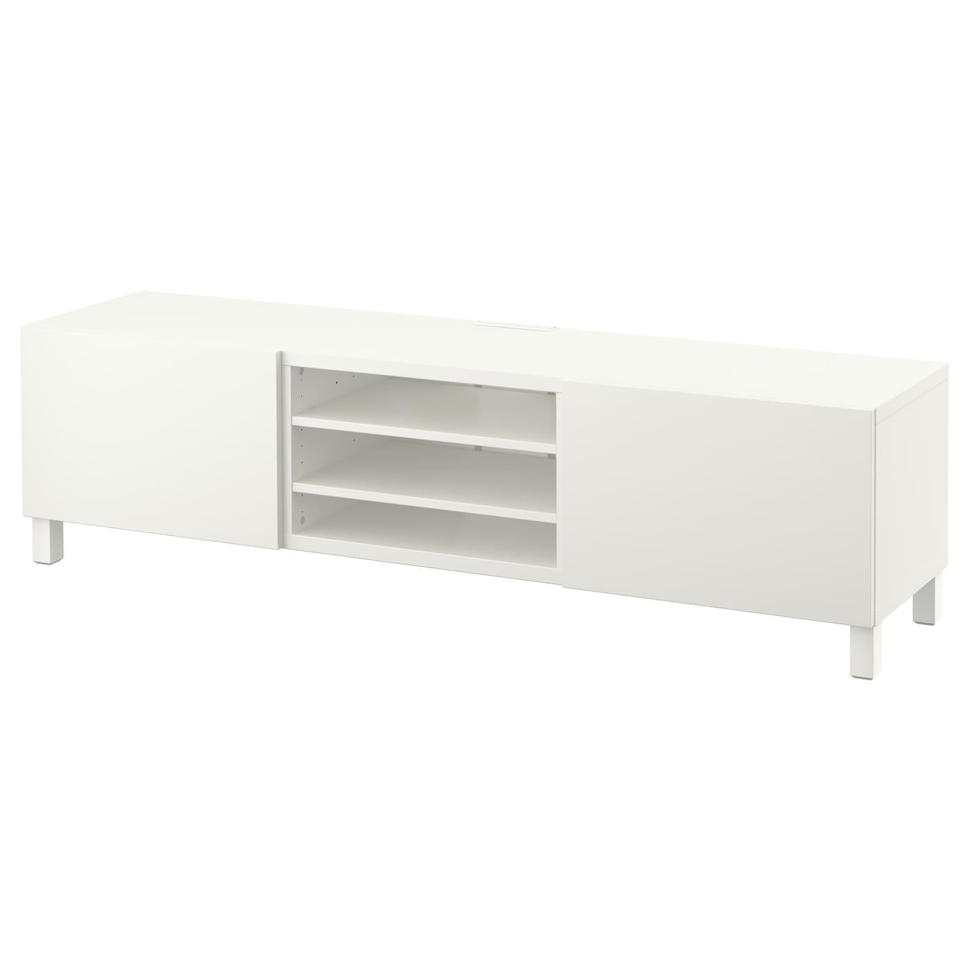 Best Tv Bench With Drawers Lappviken White 180x40x48 Cm