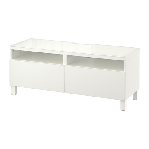 Best tv bench with drawers lappviken white 120 x 40 x 48 cm ikea - Mueble tv hemnes ...