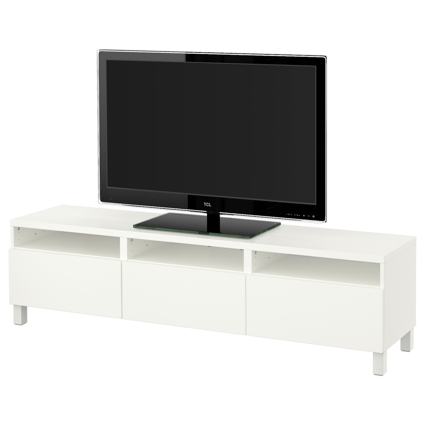 best tv bench with drawers lappviken white 180x40x48 cm. Black Bedroom Furniture Sets. Home Design Ideas