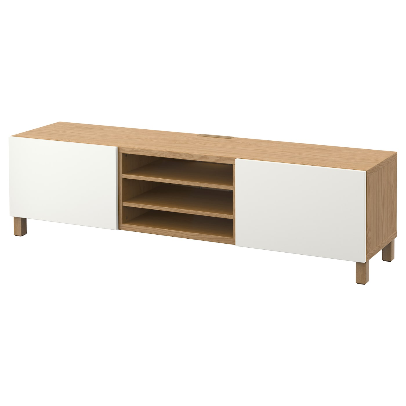 Best Tv Bench With Drawers Oak Effect Lappviken White 180x40x48 Cm Ikea