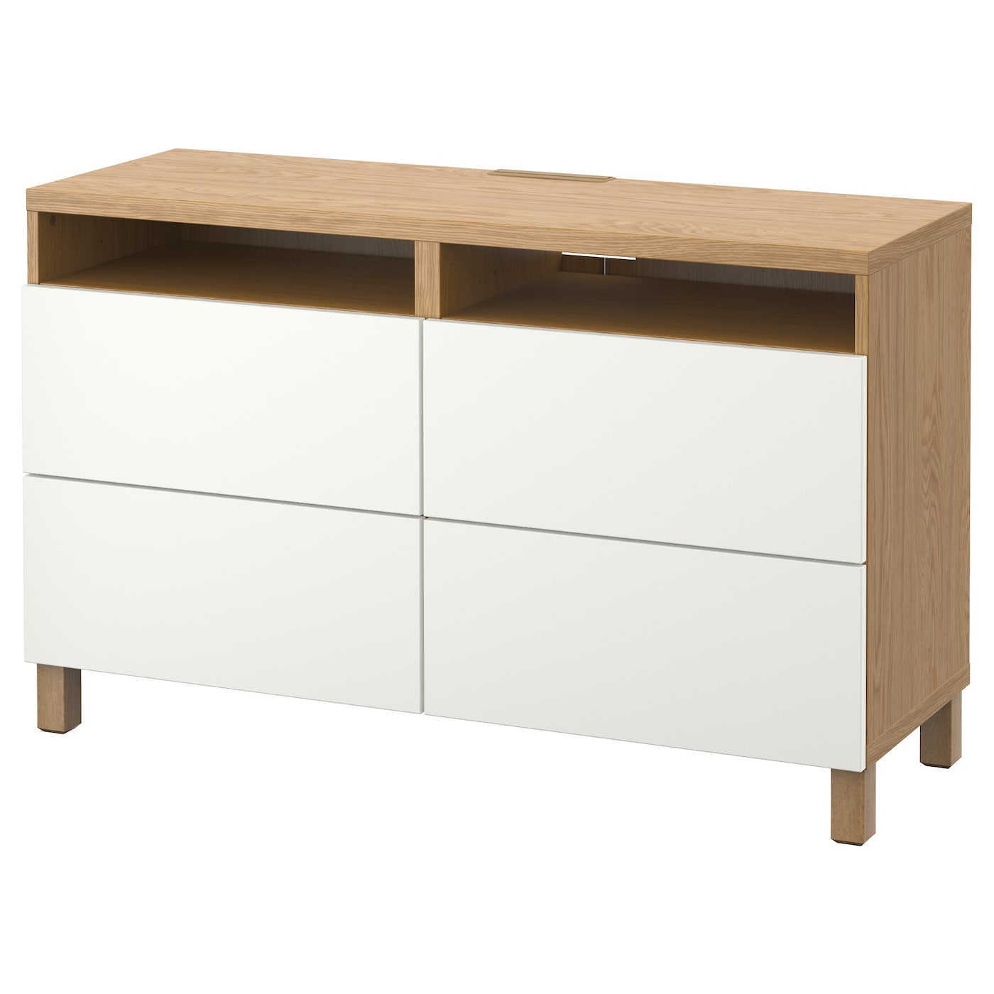 Best Tv Bench With Drawers Oak Effect Lappviken White 120x40x74 Cm Ikea