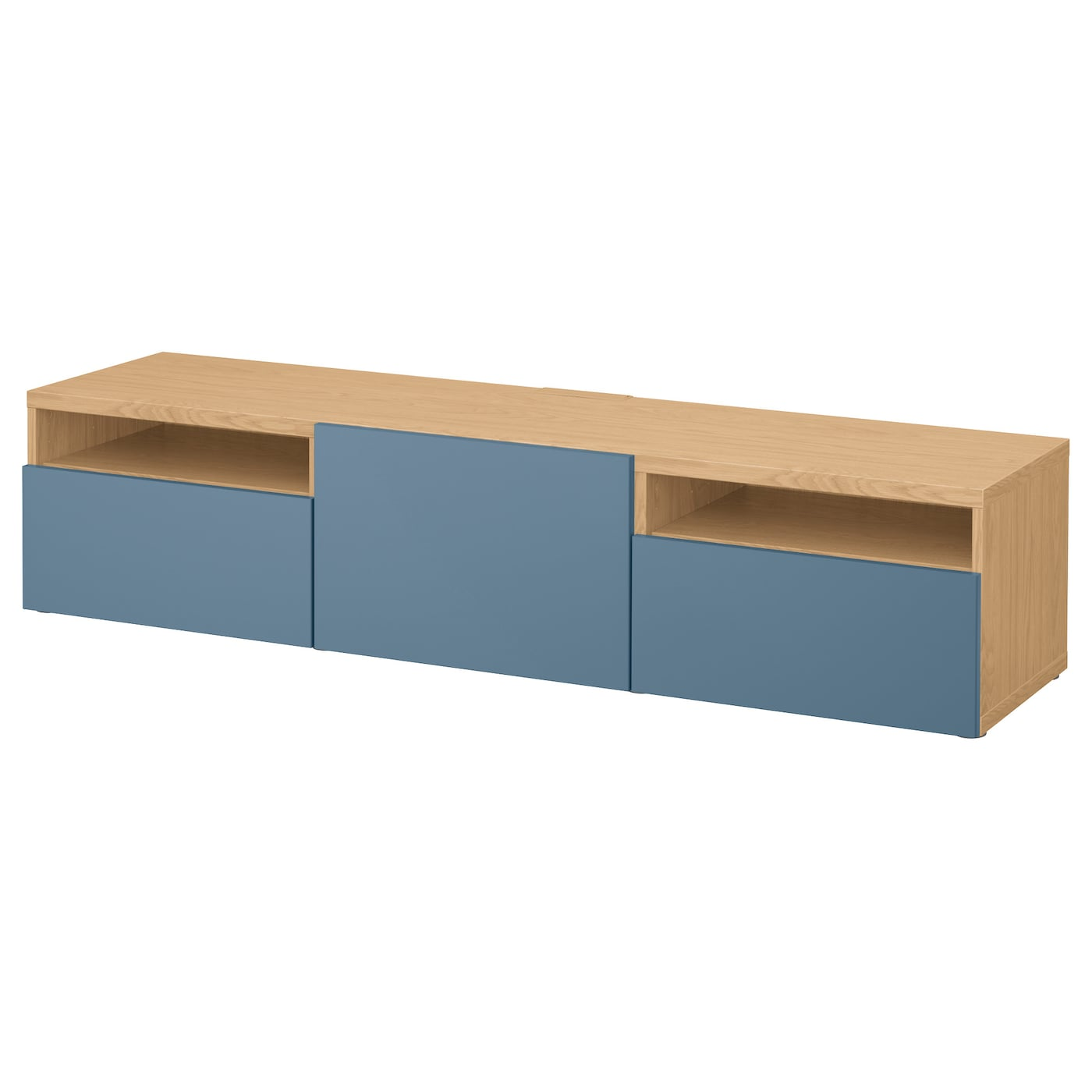Best Tv Bench With Drawers Oak Effect Valviken Dark Blue 180x40x38 Cm Ikea