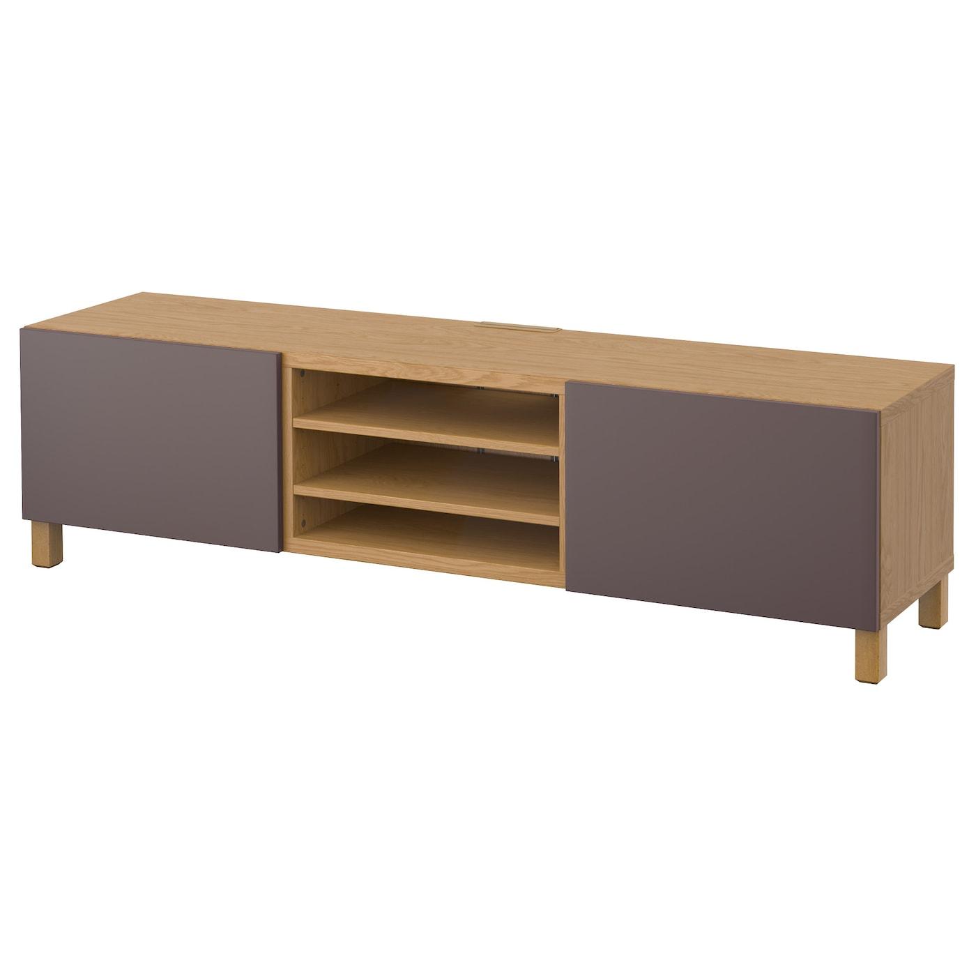 Best Tv Bench With Drawers Oak Effect Valviken Dark Brown 180x40x48 Cm Ikea