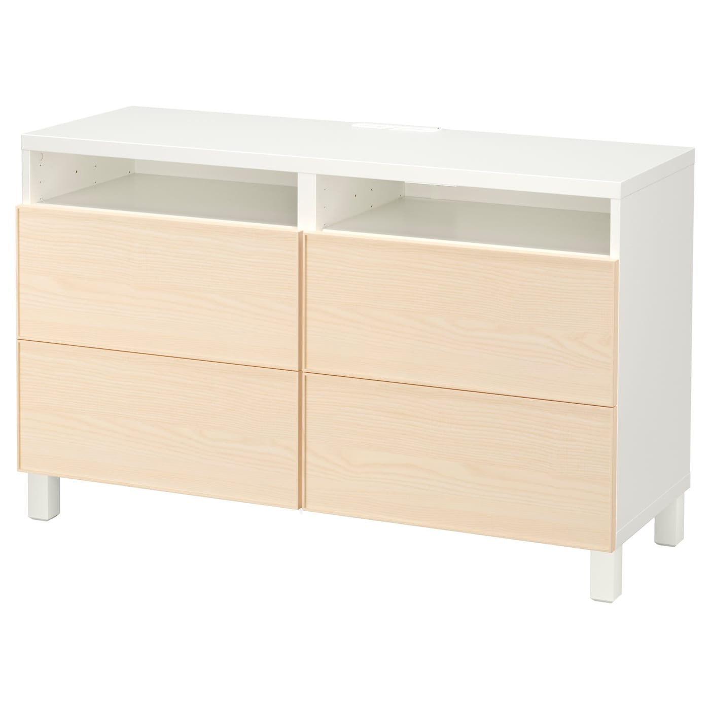Best Tv Bench With Drawers White Inviken Ash Veneer 120x40x74 Cm Ikea