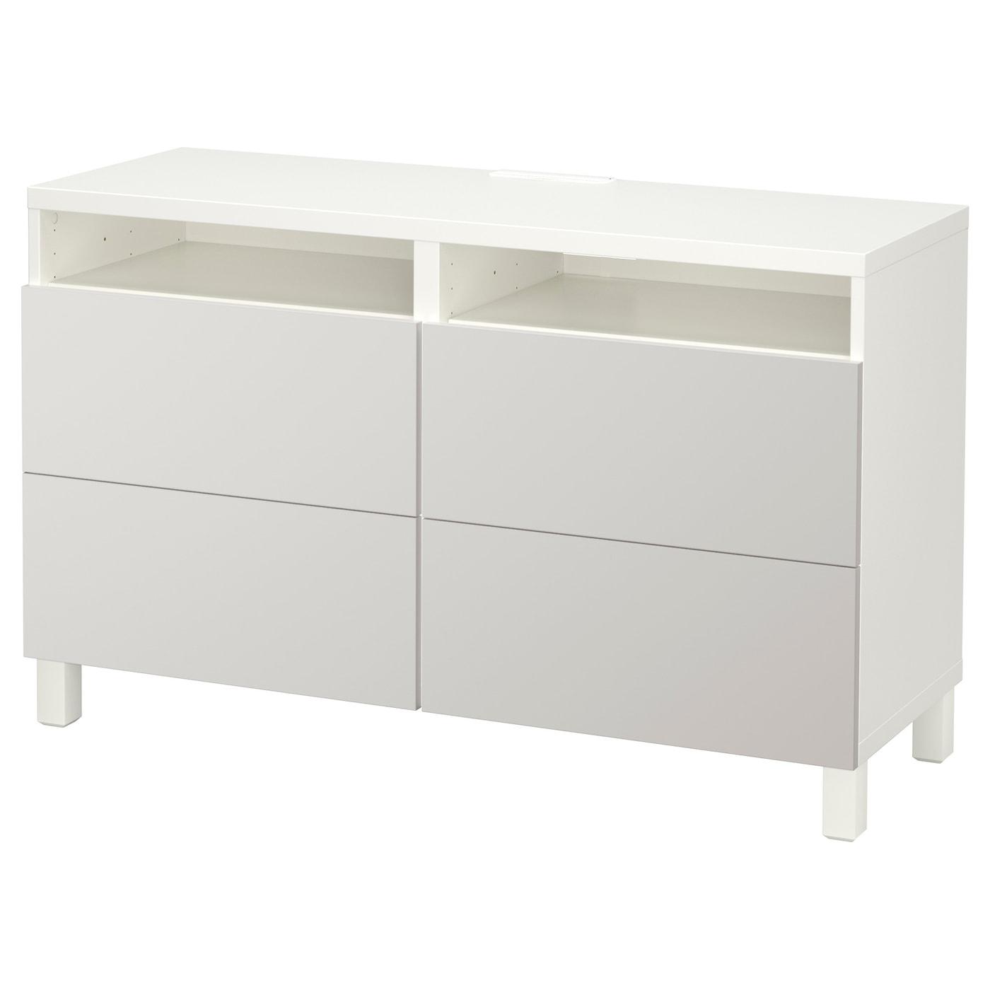 Best Tv Bench With Drawers White Lappviken Light Grey