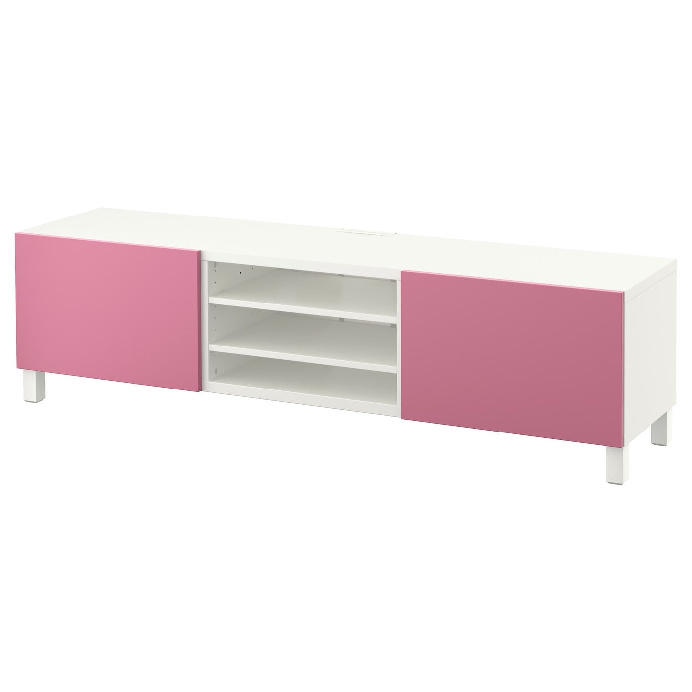 best tv bench with drawers white lappviken pink 180x40x48. Black Bedroom Furniture Sets. Home Design Ideas