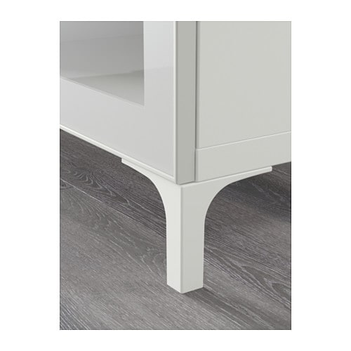 Ikea Dresser With Clear Drawers ~   bench with drawers BESTÅ White selsviken high gloss beige clear glass
