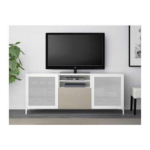 best tv bench with drawers white selsviken high gloss beige frosted
