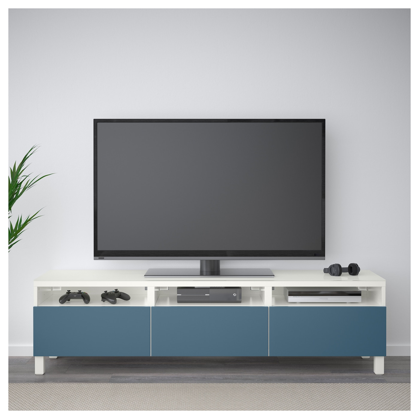 Best Tv Bench With Drawers White Valviken Dark Blue 180x40x48 Cm Ikea