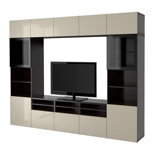 ... glass-doors-black-brown-selsviken-high-gloss-beige-clear-glass
