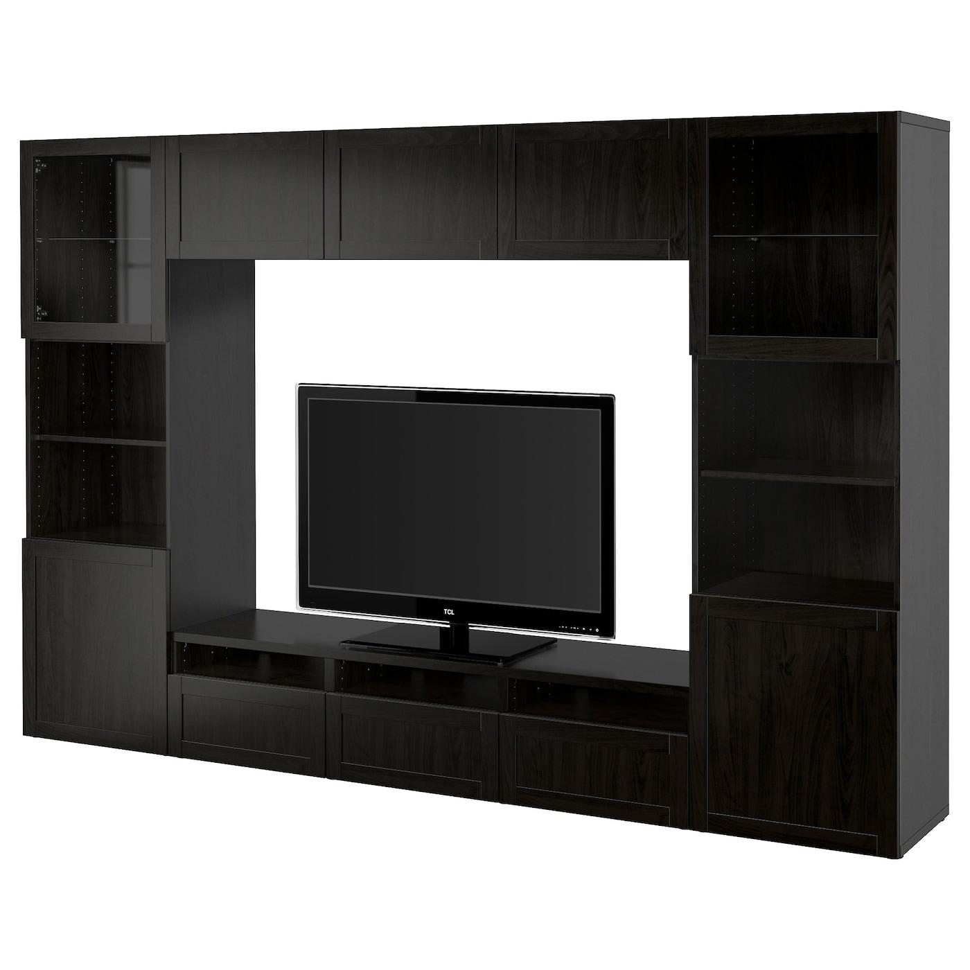 Meuble ikea besta brun noir - Meuble tv brun noir ...