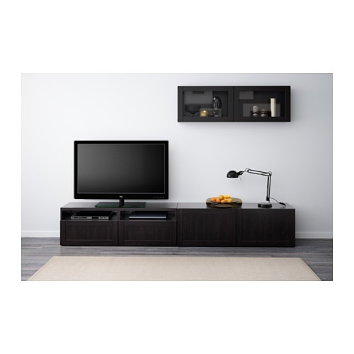 Ikea Aspelund Vaatekaappi Hinta ~ BESTÅ TV storage combination glass doors Hanviken sindvik black brown