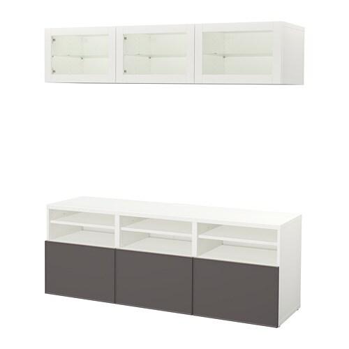 Best Tv Storage Combinationglass Doors White Grundsvikendark Grey