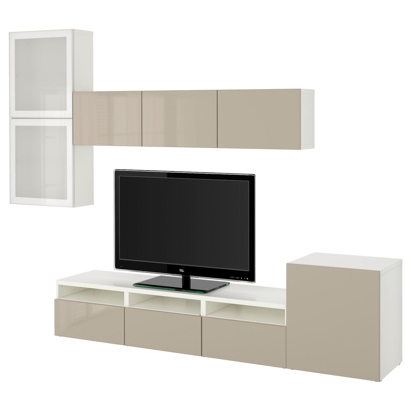 Tv Wall Unit Ikea Bestå Tv Storage Combinationglass Doors Whiteselsviken High
