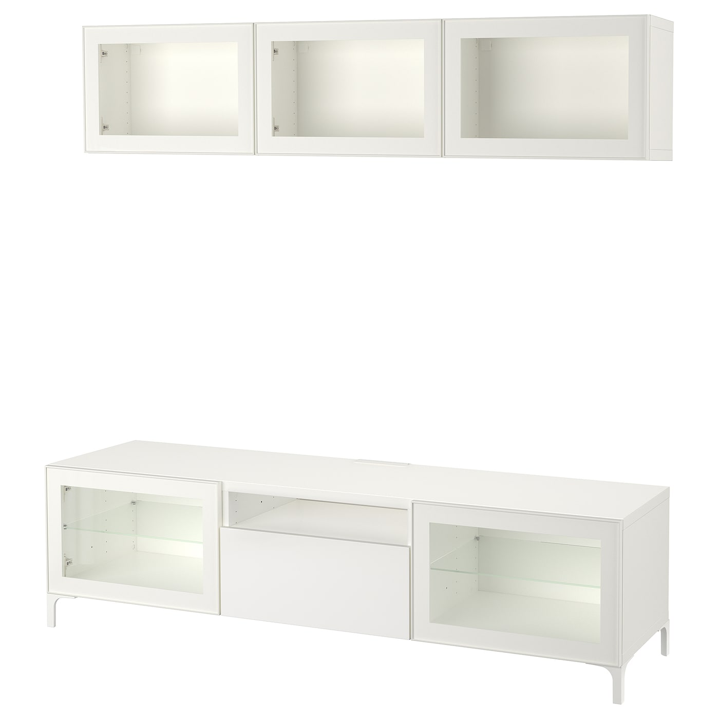 Ikea BestÅ Tv Storage Combination Glass Doors
