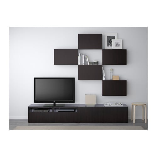 best tv storage combination lappviken black brown 240x20. Black Bedroom Furniture Sets. Home Design Ideas