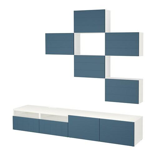 Bestå Tv Storage Combination Whitehallstavik Dark Blue 240 X 2040