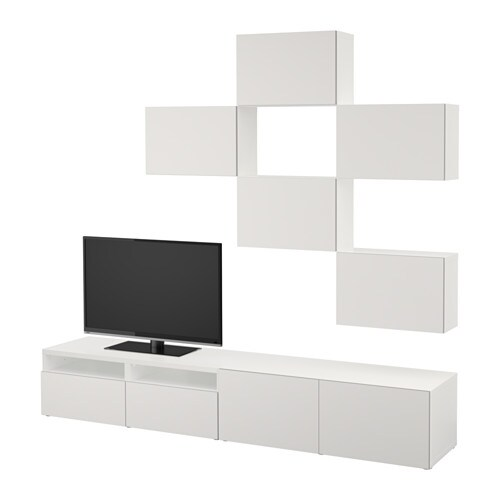 Best tv storage combination white lappviken light grey - Mobiletti porta tv ikea ...