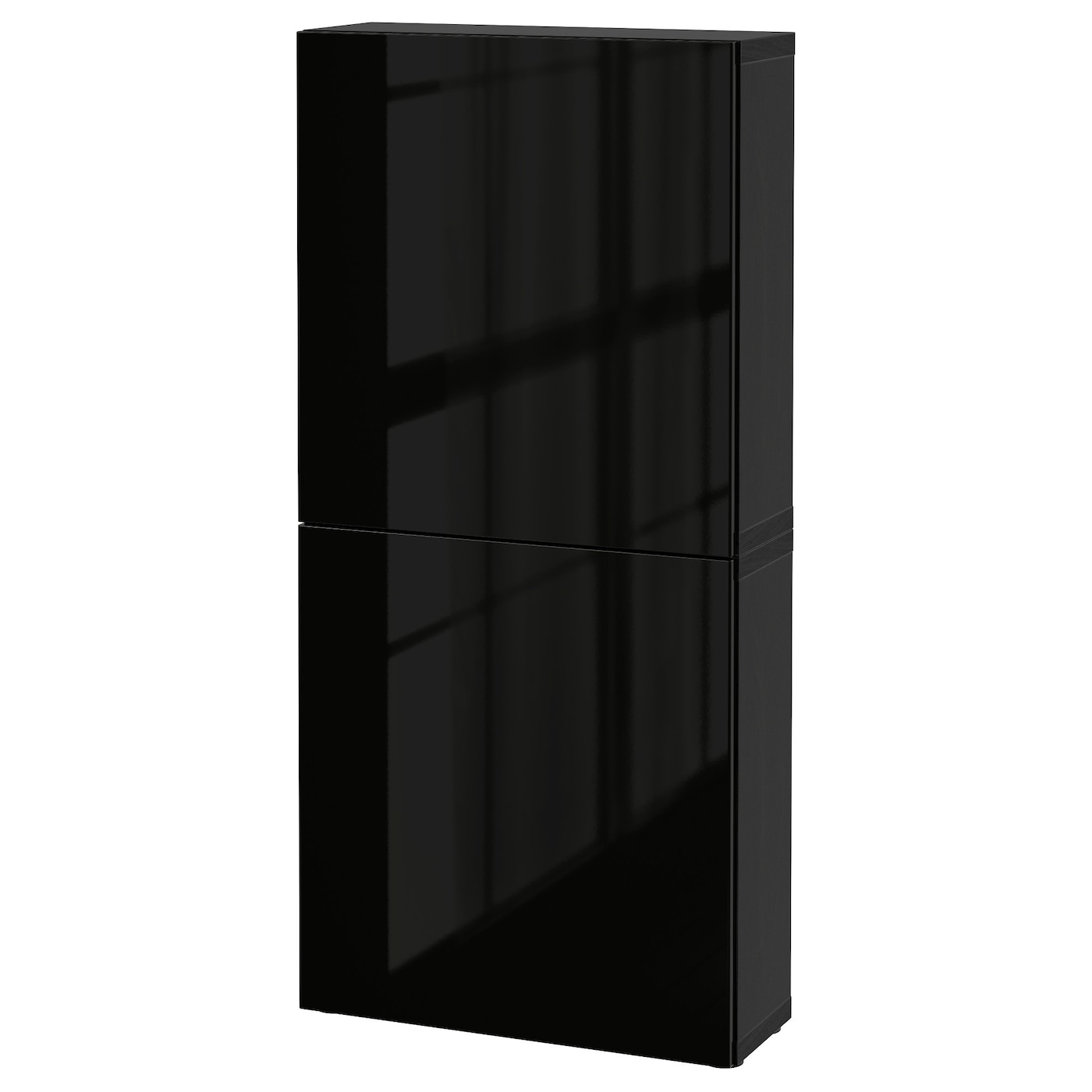 Best wall cabinet with 2 doors black brown selsviken high for Black cabinet with doors